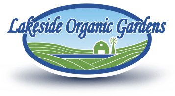 Enlace del logotipo al sitio web de Lakeside Organic Gardens.